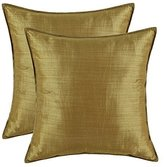 """SET OF 2 CaliTime Cushion Covers Pillows Shells Light Weight Dyed Stripes Color 18"""" X 18"""""""