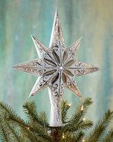 Christopher Radko Silver Stellar Christmas Tree Topper