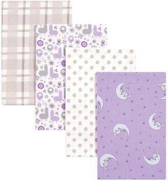 Trend Lab Llamas & Unicorns 4-pk. Flannel Swaddle Blankets