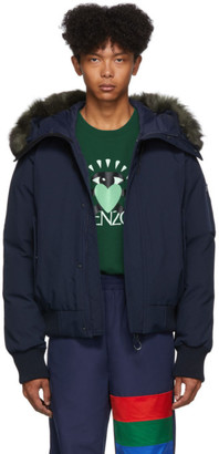Kenzo Navy Down Short Parka Jacket