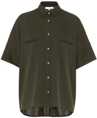 Vince Stretch silk-satin shirt