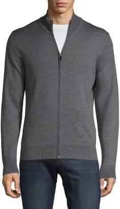 Saks Fifth Avenue Full-Zip Wool Blend Sweater