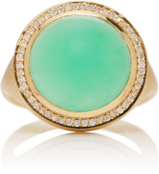 Octavia Elizabeth Chrysoprase and Diamond Lollipop Ring