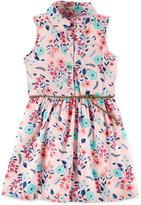 Carter's Floral-Print Belted Shirt Dress, Toddler Girls (2T-4T)