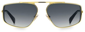 Givenchy 56MM Flat Top Gradient Metal Sunglasses