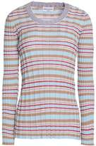 Sonia Rykiel Striped Ribbed Cotton-Blend Sweater