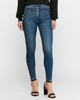 Express High Waisted Hyper Stretch Chain Pocket Jean Ankle Leggings