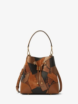 MICHAEL Michael Kors Mercer Gallery Small Patchwork Embossed Leather Shoulder Bag