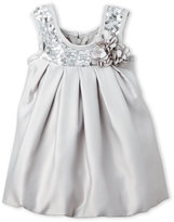 princess faith (Newborn/Infant Girls) Two-Piece Sequin Embellished Dress & Bloomers Set