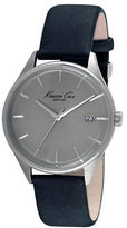 Kenneth Cole Stainless Steel and Leather Strap Watch, 10029304