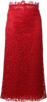 Valentino floral lace detail skirt - women - Silk/Cotton/Polyamide/Polyester - 40