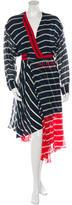 Preen Striped Silk Dress w/ Tags