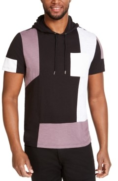 INC International Concepts Inc Men's Pieced Short-Sleeve Hoodie, Created for Macy's