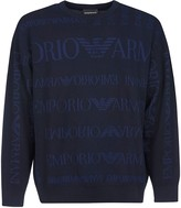 Giorgio Armani All-over Logo Printed Sweatshirt