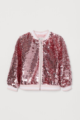 H&M Sequined bomber jacket