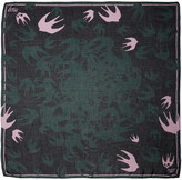 McQ by Alexander McQueen Green Swallow Swarm Scarf