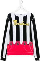 Moschino Kids teen color block top