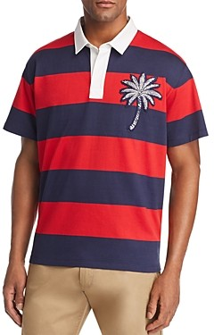 Moncler Rugby Striped Polo Shirt