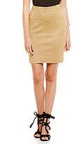 Kensie Scuba Suede Pencil Skirt