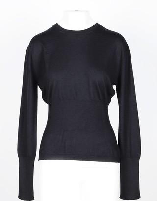 Lamberto Losani Black Cashmere and Silk Women's Sweater
