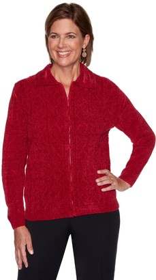 Alfred Dunner Petite Chenille Cardigan