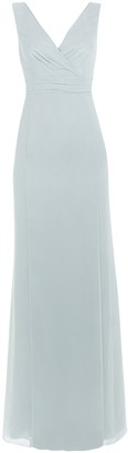 Maids To Measure Lisette Fitted V Neck Maxi Dress