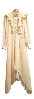 BA&SH Spring Summer 2020 Yellow Viscose Dresses