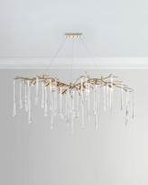John-Richard Collection Brass & Glass Teardrop Chandelier