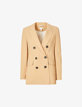 Topshop Double-breasted twill blazer
