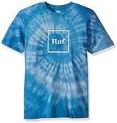 HUF Men's Box Logo Spiral Tiedye Tee