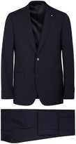 Lardini Navy Pinstriped Wool Suit