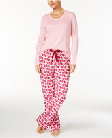 Nautica Scoop-Neck Knit Top and Printed Pajama Pants Gift Set