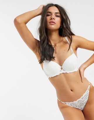 Dorina Mica recycled lace tanga brief in ivory