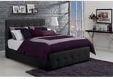 DHP Florence Black Upholstered Queen Bed