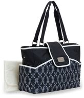 Carter's Fashion Flap Tote Diaper Bag in Black