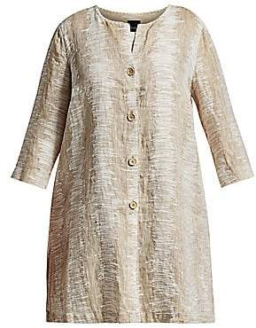 NIC + ZOE, Plus Size NIC + ZOE, Plus Size Women's Sand Ripple Linen & Cotton Jacket