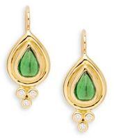 Temple St. Clair Diamond, Tsavorite & 18K Yellow Gold Tear Drop Earrings
