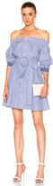 Tanya Taylor Brittany Dress in Blue,Stripes,White.