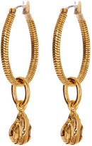 Diane von Furstenberg Dew Drop Chain Hoop Earrings