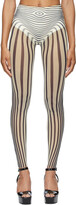 Thumbnail for your product : Jean Paul Gaultier SSENSE Exclusive Off-White & Navy Les Marins Body Stripe Leggings