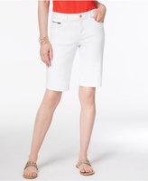 INC International Concepts Curvy Denim Bermuda Shorts, Created for Macy's
