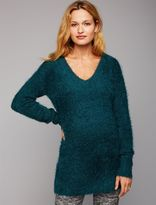A Pea in the Pod Back Interest Maternity Sweater Tunic
