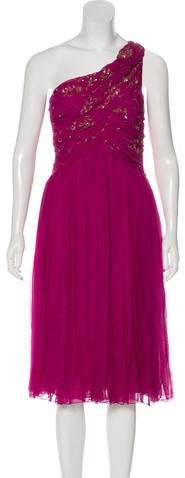 Christian Dior Embellished Silk Dress