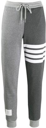 Thom Browne 4-Bar loopback track pants