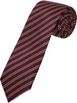 Oxford Silk Tie Grid Red Meduim X