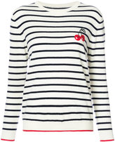 Chinti and Parker striped cherry sweater - women - Cashmere - XS