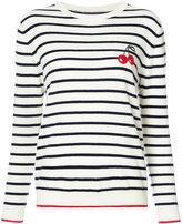 Chinti and Parker striped cherry sweater - women - Cashmere - XS