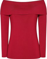 Reiss Ximena - Off-the-shoulder Jumper in Red, Womens