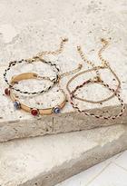 Forever 21 Braided and Chain Bracelet Set