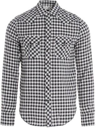 Saint Laurent Check Western Shirt